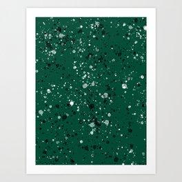 Green suspicions Art Print