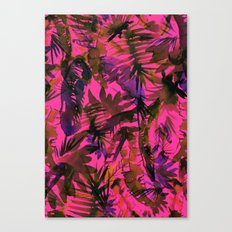 Vibe of the Jungle {Red} Canvas Print