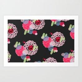 Brush roses Art Print