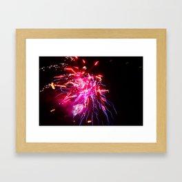 Electro Thai Fireworks Framed Art Print