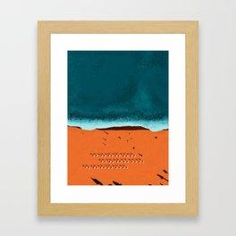 long for the endless sea Framed Art Print
