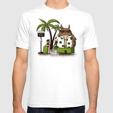 Toto-Beach SMALL White Mens Fitted Tee