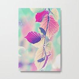 New & Fresh Hazelnut Leaves Metal Print