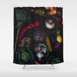 Artichoke Mix Shower Curtain