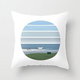 Clifftop Cabin Throw Pillow