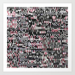 Comfortable Ambiguity (P/D3 Glitch Collage Studies) Art Print