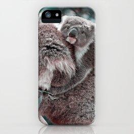 Koala, Mummy and Baby iPhone Case