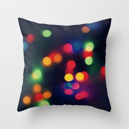Lights of the Season Throw Pillow