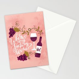 Where's My Fucking Wine? Stationery Cards