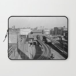 Dudley Station on the Boston Elevated Railway 1904 Laptop Sleeve