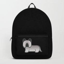 Grey Skye Terrier Dog Cute Cartoon Illustration Backpack