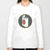 cigarette Long Sleeve T-shirts featuring cigarette by Simon Khoo's Illustration