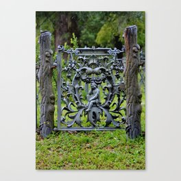 Lovely Cemetery Gate Canvas Print