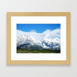 Teton Range Framed Art Print