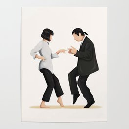 Pulp Fiction Twist Dance - Poster