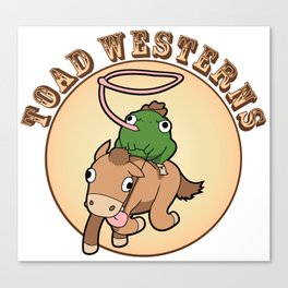 Toad Westerns Canvas Print