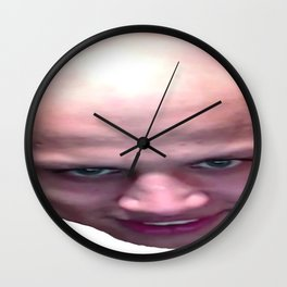 Influencer Loltyler1 Rage Scream Angry Face League Muscle Wall Clock