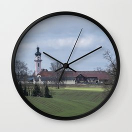 View on Peter and Paul church Laupheim-Germany Wall Clock