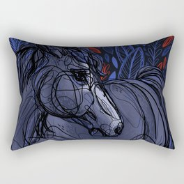 Valor the Mustang Rectangular Pillow