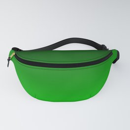 Black and Lime Gradient Fanny Pack