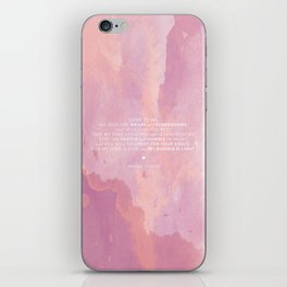Come To Me | Pink Watercolor Reverse (for Lyndsie Brooker) iPhone Skin