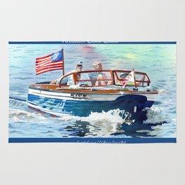 Wooden Boat Blues Rug
