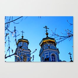 Cupolas, Church of the Ascension, Russia Canvas Print