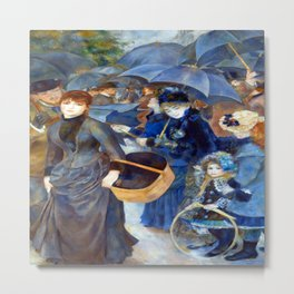 Pierre Auguste Renoir The Umbrellas Metal Print
