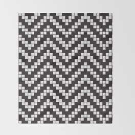 Herringbone Weave Seamless Pattern. Throw Blanket