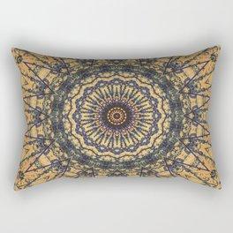 Vintage Blue Mandala Rectangular Pillow