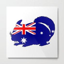 Australian Flag - Chinchilla Metal Print