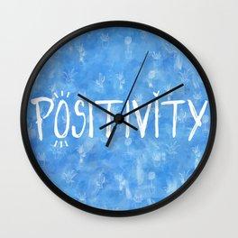 Positive Plant Wall Clock