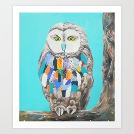 Imaginary owl Art Print