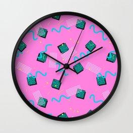Memphis Pattern #6 Wall Clock