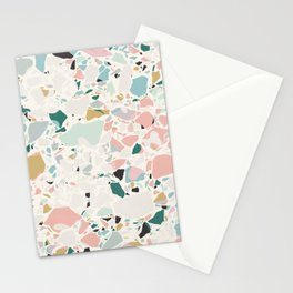 Pastel Terrazzo / Modern Texture Stationery Cards