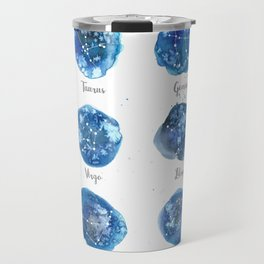 Watercolor Zodiac Star Constellations Travel Mug