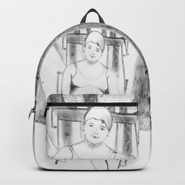 Bather with cap Backpack
