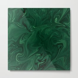 Modern Cotemporary Emerald Green Abstract Metal Print