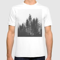 black trees Mens Fitted Tee MEDIUM White