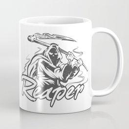 Hand Inked Grim Reaper Illustration Coffee Mug