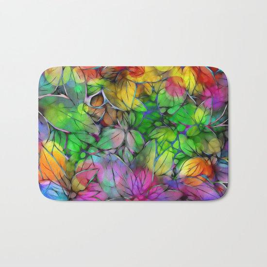 Dream Colored Leaves Bath Mat