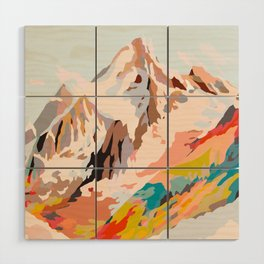 glass mountains Wood Wall Art