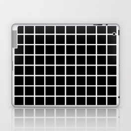 Back to School- Simple Grid Pattern- Black & White- Mix & Match with Simplicity of Life Laptop & iPad Skin
