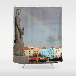 Rainbow over Willemstad Curaçao Shower Curtain