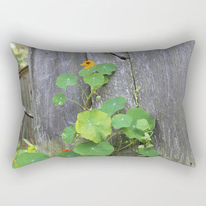 The Garden Wall Rectangular Pillow