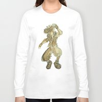kingdom hearts Long Sleeve T-shirts featuring Sora KINGDOM HEARTS coffee art by DarkGrey Heroine