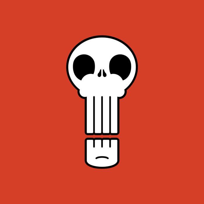 Long Skull Duvet Cover