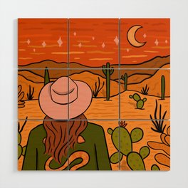 Desert Girl Wood Wall Art