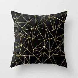 Ab Dotted Gold Throw Pillow