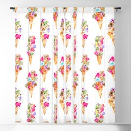 Sweet summer || watercolor ice cream Blackout Curtain